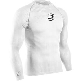 Compressport 3D Thermo UltraLight Maglietta a Maniche Lunghe Uomo, bianco
